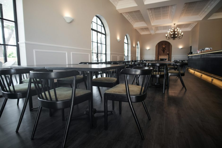 Inside Amelia Park Tavern featuring NOROCK Terrace table bases