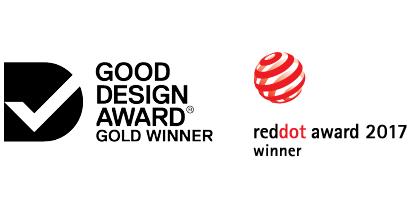 NOROCK is award-winning: pictured are the Good Design and RedDot Awards
