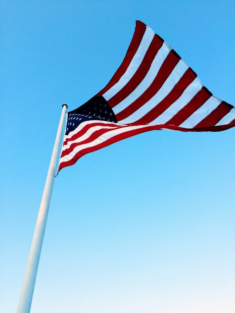 NOROCK launches in USA: pictured is the flag