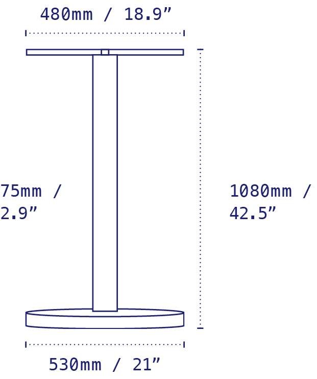 NOROCK Lunar Line Drawing with Specs